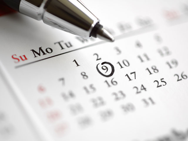 Key Dates For Your Diary; March – May 2018